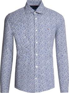 Niebieska koszula Tommy Hilfiger z długim rękawem