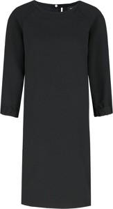Czarna sukienka Marella midi z długim rękawem