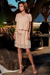 Sukienka Lemoniade z krótkim rękawem z szyfonu