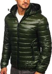 Zielona kurtka Denley w stylu casual krótka