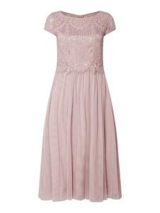 Sukienka Vera Mont midi z krótkim rękawem