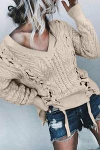 Sweter damski sweter bistra bez wzorów
