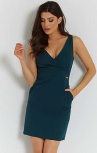 Granatowa sukienka Ivon na ramiączkach