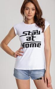 T-shirt Renee z okrągłym dekoltem w młodzieżowym stylu