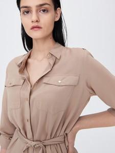 Brązowa koszula Sinsay z kołnierzykiem w stylu casual