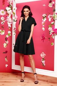 Czarna sukienka TAGLESS z dekoltem w kształcie litery v