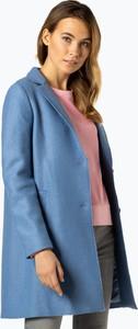 Niebieski płaszcz Cinque w stylu casual z wełny