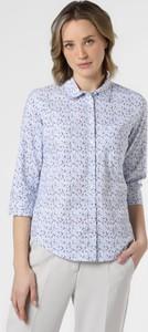 Niebieska bluzka Marie Lund z bawełny w stylu klasycznym