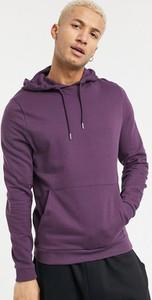 Fioletowa bluza Asos w młodzieżowym stylu z bawełny
