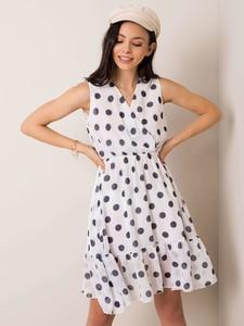 Sukienka Sheandher.pl z dekoltem w kształcie litery v bez rękawów mini
