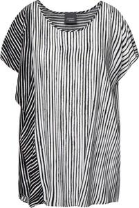 Bluzka Persona by Marina Rinaldi z krótkim rękawem z okrągłym dekoltem