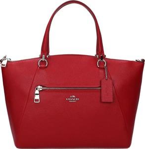 Czerwona torebka Coach matowa na ramię