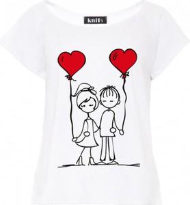 T-shirt Knitis w młodzieżowym stylu