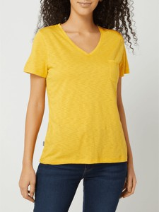Żółty t-shirt Superdry w stylu casual z krótkim rękawem