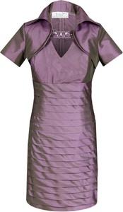 Sukienka Fokus z dekoltem w kształcie litery v z krótkim rękawem