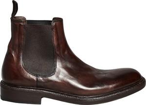 Brązowe buty zimowe Blundstone ze skóry
