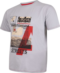 T-shirt Bigsize z krótkim rękawem w młodzieżowym stylu z nadrukiem