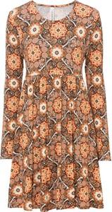 Sukienka bonprix z długim rękawem w stylu casual