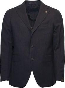 Niebieski garnitur Tagliatore z wełny