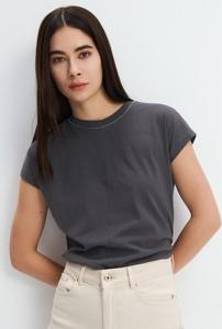 T-shirt Mohito z okrągłym dekoltem z bawełny w stylu casual