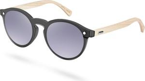 Trendhim Okulary przeciwsłoneczne z oprawkami z drewna bambusowego
