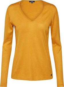 Żółty sweter Tom Tailor z dzianiny w stylu casual