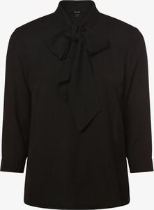 Czarna bluzka Vero Moda z długim rękawem ze sznurowanym dekoltem