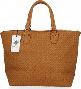 Brązowa torebka Bee Bag ze skóry ekologicznej
