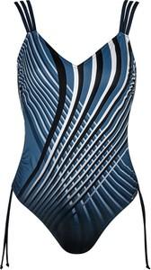 Granatowy strój kąpielowy Sunflair z nadrukiem w stylu casual