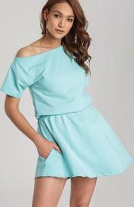 Miętowa sukienka Renee w stylu casual