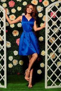 Niebieska sukienka Lemoniade z dekoltem w kształcie litery v