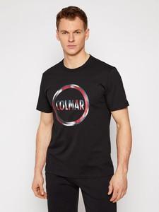 Czarny t-shirt Colmar w młodzieżowym stylu z krótkim rękawem
