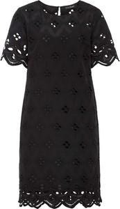 Czarna sukienka bonprix z krótkim rękawem