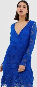 Niebieska sukienka Missguided z dekoltem w kształcie litery v