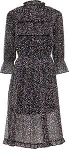Sukienka bonprix w stylu casual z szyfonu midi