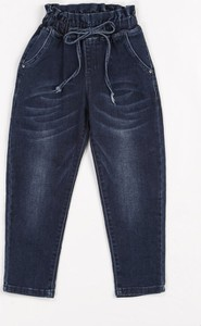 Granatowe spodnie dziecięce born2be