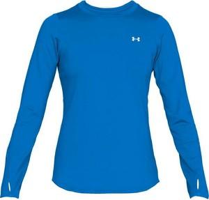 Niebieska bluzka Under Armour z okrągłym dekoltem z długim rękawem
