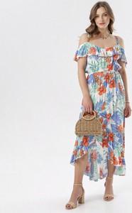Sukienka born2be hiszpanka rozkloszowana w stylu casual