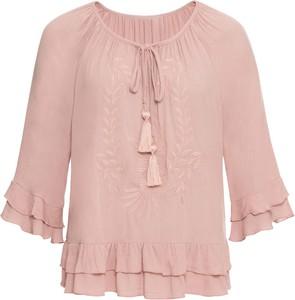 Różowa bluzka bonprix BODYFLIRT w stylu boho