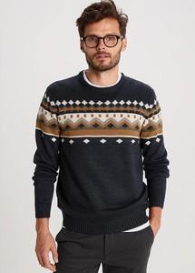 Czarny sweter Bendorff w młodzieżowym stylu z okrągłym dekoltem