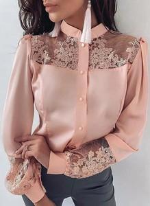 Różowa bluzka Sandbella z satyny