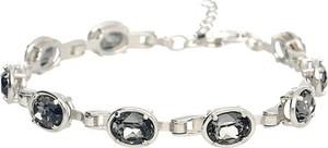 155efaf4943a68 Polcarat Design Srebrna bransoletka z kryształami Swarovskiego L 1891 :  Kolor - Silver Night