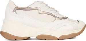 Buty sportowe Geox na platformie sznurowane ze skóry ekologicznej