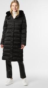 Czarny płaszcz Vg w stylu casual
