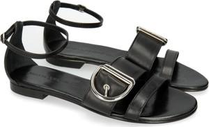 Czarne sandały Melvin & Hamilton w stylu klasycznym z płaską podeszwą