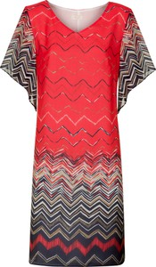 Sukienka Poza z dekoltem w kształcie litery v z tkaniny mini