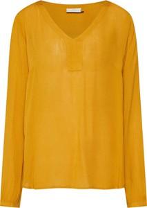Żółta bluzka Kaffe z długim rękawem