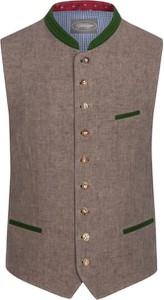 Brązowa kamizelka Grasegger z bawełny
