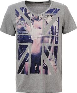 T-shirt Glo-Story z jeansu z krótkim rękawem w młodzieżowym stylu