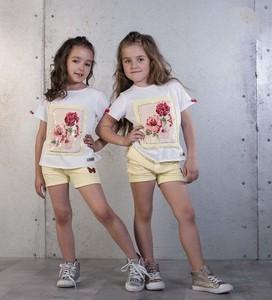 Koszulka dziecięca Kids By Voga w kwiatki